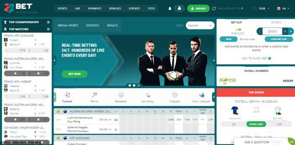 22bet design and usability