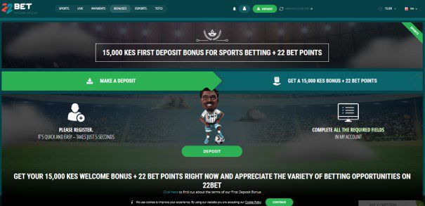 22bet first deposit bonus - 22Bet Bookmakers Review