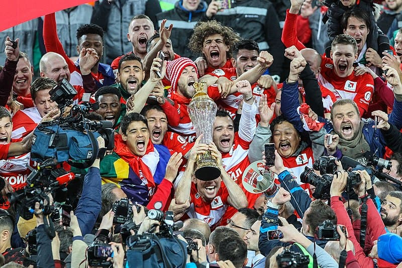 FC Spartak Moscow Cup Ceremony
