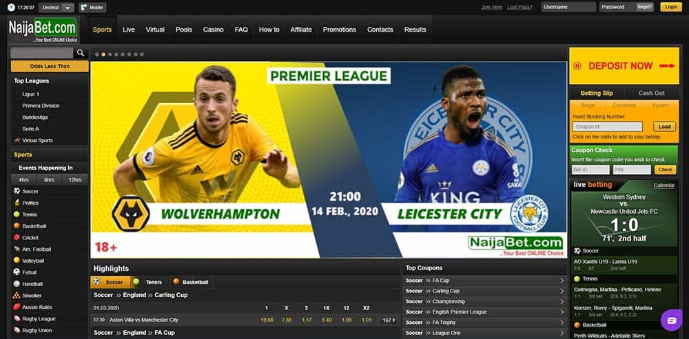 Naijabet homepage - NaijaBet Sports Betting