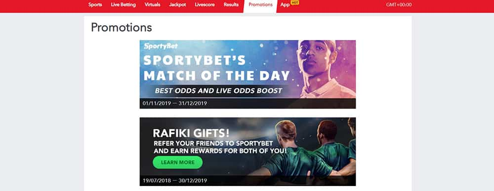 Sportsbook Promotions at Sporty Bet