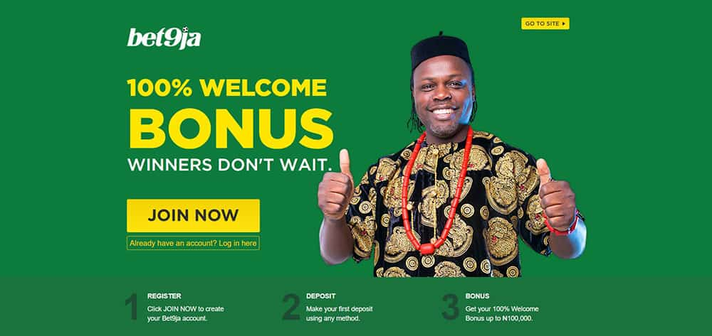 Bet9ja Welcome Bonus Offer