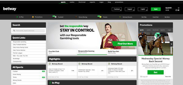 betway main page - Corners Betting
