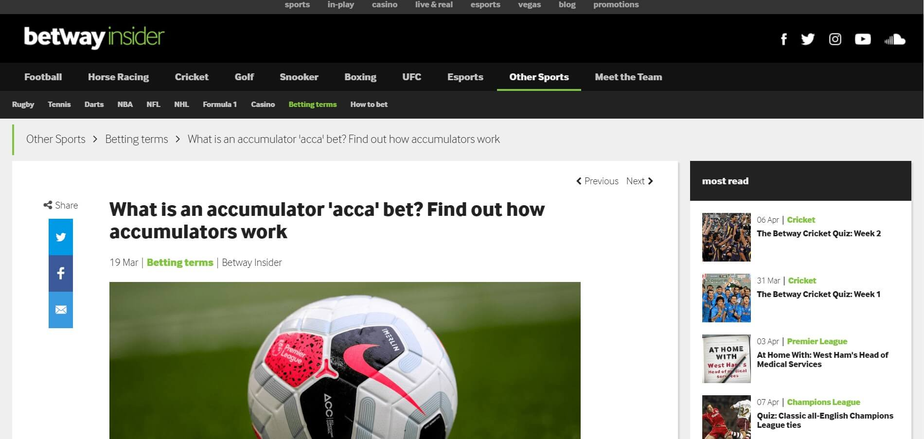 Betway Accumulator Blog