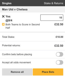 betfair both teams to score 2