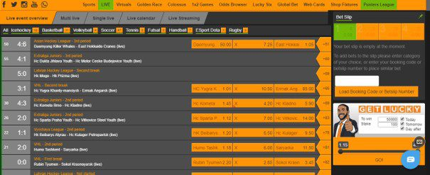 merrybet live bets