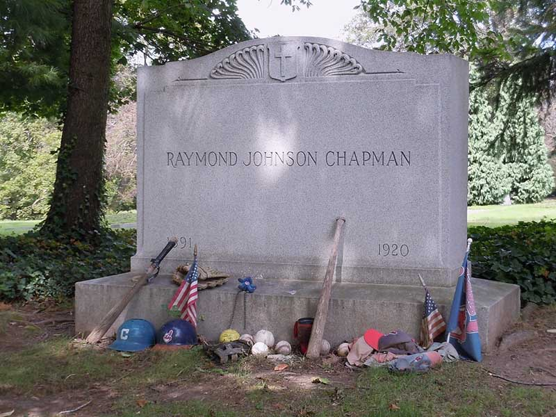 Ray Chapman of the Cleveland Indians grave