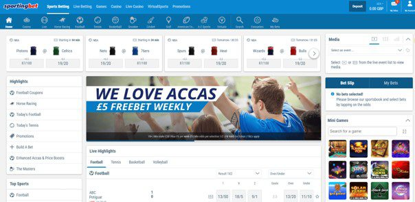 sportingbet optimised browser for mobile betting - Sportingbet Review